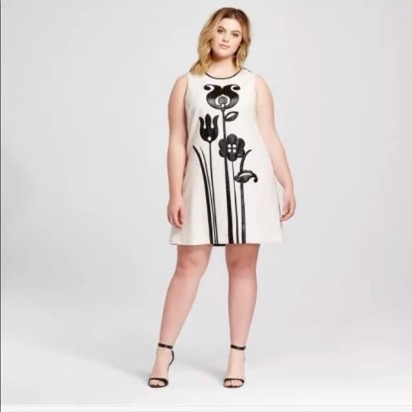 7baa37f289e Victoria Beckham Target Floral Dress 3X Mod Shift
